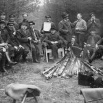 Verabschiedung eines Forstarbeiters aus den 50er Jahren im Schieringer Wald.