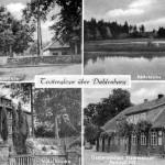 Postkarte aus den 50er Jahren. 1. Hof Hermann Saucke 2. Badeteiche im Barnbeck 3. Villa J. Friedrich Saucke 4. Gasthaus Hachmeister