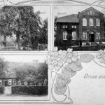 Postkarte aus Köhlingen 1. Lütjens 2. Buhlert (heute Familie Pahlow) 3. Sasse (heute Vernunft)